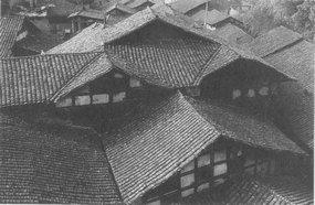 百年老屋层层砖瓦