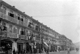20世纪初香港九龙的街道