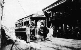 白尔电车公司试行有轨电车