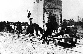 被八国联军炮毁的黄村车站
