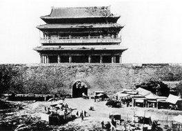 北京城楼门前景象