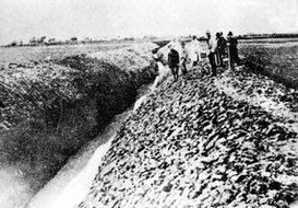 朝鲜人挖的引水渠