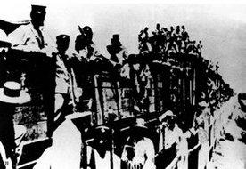 北伐军乘火车开赴杭州西湖前线