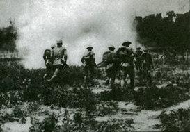 步兵通过障碍物演习