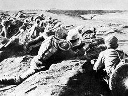 正在阻击日军的皖南新四军