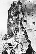 安阳战役解放军进攻日军碉堡