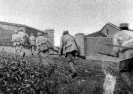 1945年八路军鲁中部队向日军工事冲击