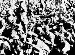 被俘的阎锡山军队的官兵