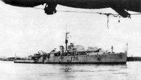 """被解放军击伤的英国军舰""""紫石英""""号"""