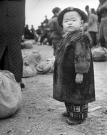 北平火车站难民