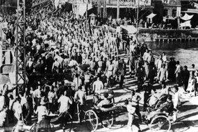 北洋军第1混成旅第2团赴工地救灾