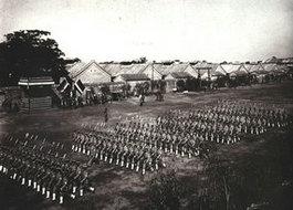 北洋军队队列检阅