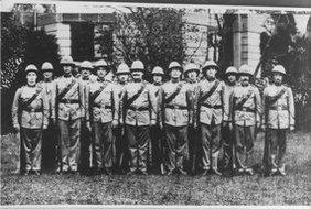 奥地利义勇队军官合影