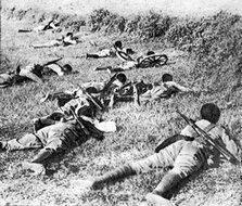 阿比西尼亚士兵作战时的情景