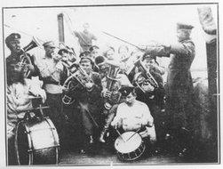 奥霍茨克运输舰的军乐队