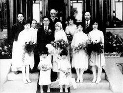 冰心和吴文藻的婚礼合影