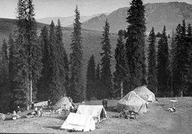 新疆游牧鞑靼人的营地