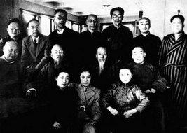 1949年1月到达解放区的作家叶圣陶、郑振铎等在沈阳合影