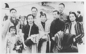 1940年5月林语堂及家属已下旬由美回国