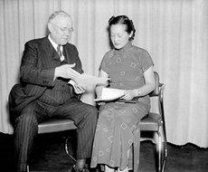 美国劳工联合会主席威廉·格林和王正廷的女儿王玉霭