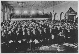 在市政厅举行的传教士会议