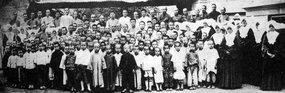 北平天主教会救济的穷苦儿童
