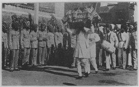 新锡克教庙宇奠基礼时的仪式
