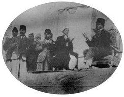 阿富汗国王在印度对民众演说