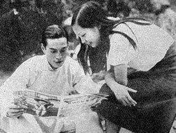 1934年的金焰与王人美